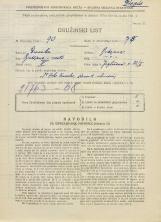 Popis prebivalstva 31. 3. 1931<br />Ljubljana<br />Jegličeva ulica 22<br />Population census 31 March 1931