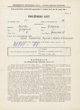 Popis prebivalstva 31. 3. 1931<br />Ljubljana<br />Jeranova ulica 13<br />Population census 31 March 1931