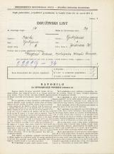 Popis prebivalstva 31. 3. 1931<br />Ljubljana<br />Jeranova ulica 20<br />Population census 31 March 1931
