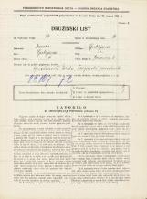 Popis prebivalstva 31. 3. 1931<br />Ljubljana<br />Jeranova ulica 6<br />Population census 31 March 1931