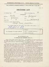 Popis prebivalstva 31. 3. 1931<br />Ljubljana<br />Jeranova ulica 9<br />Population census 31 March 1931
