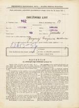 Popis prebivalstva 31. 3. 1931<br />Ljubljana<br />Jezerska ulica 1<br />Population census 31 March 1931