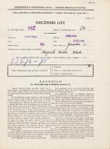 Popis prebivalstva 31. 3. 1931<br />Ljubljana<br />Jezerska ulica 10<br />Population census 31 March 1931