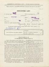 Popis prebivalstva 31. 3. 1931<br />Ljubljana<br />Jezerska ulica 4<br />Population census 31 March 1931