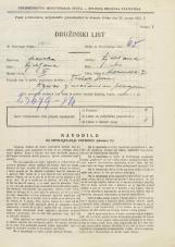 Popis prebivalstva 31. 3. 1931<br />Ljubljana<br />Karunova ulica 7<br />Population census 31 March 1931