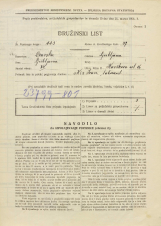 Popis prebivalstva 31. 3. 1931<br />Ljubljana<br />Kavškova cesta 16<br />Population census 31 March 1931