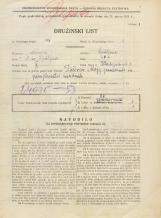 Popis prebivalstva 31. 3. 1931<br />Ljubljana<br />Kladezna ulica 1<br />Population census 31 March 1931
