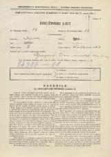 Popis prebivalstva 31. 3. 1931<br />Ljubljana<br />Knafljeva ulica 7<br />Population census 31 March 1931
