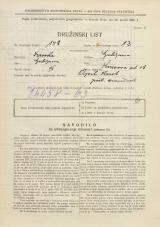 Popis prebivalstva 31. 3. 1931<br />Ljubljana<br />Knezova ulica 18<br />Population census 31 March 1931