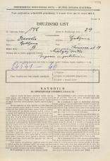 Popis prebivalstva 31. 3. 1931<br />Ljubljana<br />Knezova ulica 19<br />Population census 31 March 1931