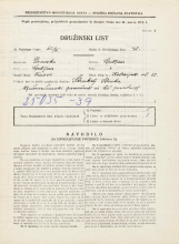 Popis prebivalstva 31. 3. 1931<br />Ljubljana<br />Kolezijska ulica 12<br />Population census 31 March 1931