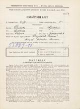 Popis prebivalstva 31. 3. 1931<br />Ljubljana<br />Kolezijska ulica 6<br />Population census 31 March 1931