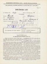 Popis prebivalstva 31. 3. 1931<br />Ljubljana<br />Kolezijska ulica 8<br />Population census 31 March 1931