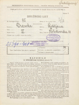 Popis prebivalstva 31. 3. 1931<br />Ljubljana<br />Kolodvorska ulica 22<br />Population census 31 March 1931