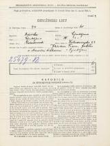 Popis prebivalstva 31. 3. 1931<br />Ljubljana<br />Kolodvorska ulica 23<br />Population census 31 March 1931