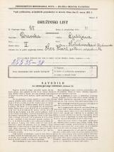 Popis prebivalstva 31. 3. 1931<br />Ljubljana<br />Kolodvorska ulica 26<br />Population census 31 March 1931