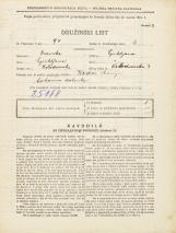 Popis prebivalstva 31. 3. 1931<br />Ljubljana<br />Kolodvorska ulica 3<br />Population census 31 March 1931