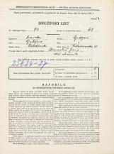 Popis prebivalstva 31. 3. 1931<br />Ljubljana<br />Kolodvorska ulica 31<br />Population census 31 March 1931