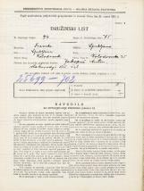 Popis prebivalstva 31. 3. 1931<br />Ljubljana<br />Kolodvorska ulica 35<br />Population census 31 March 1931