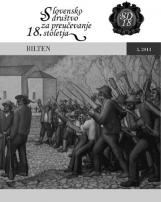 Bilten, 2013, št. 5<br />Slovensko društvo za preučevanje 18. stoletja