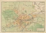 Najnovejši načrt mesta Ljubljane z okolico in delom Gorenjske po uradnih podatkih v 6 barvnem tisku s seznamom cest in ulic, javnih poslopij, uradov itd.