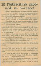 20 Plebiscitnih zapovedi za Korošce!