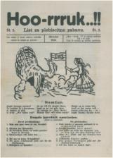 Hoo-rruk..!!,  št. 3, 1920<br />List za plebiscitno zabavo