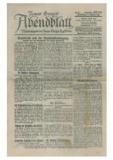 Neues Grazer Morgenblatt, 687, 1920<br />Abendsausgabe des Neuen Grazer Tagesblattes, 7. Oktober 1920