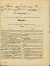 Popis prebivalstva 31. 12. 1869<br />Občina Bela Cerkev<br />Dolenje Kronovo 21<br />Population census 31 December 1869<br />Municipality Bela Cerkev
