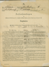 Popis prebivalstva 31. 12. 1869<br />Občina Bela Cerkev<br />Dolina 1<br />Population census 31 December 1869<br />Municipality Bela Cerkev