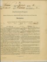 Popis prebivalstva 31. 12. 1869<br />Občina Bela Cerkev<br />Dolina 4<br />Population census 31 December 1869<br />Municipality Bela Cerkev