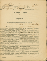 Popis prebivalstva 31. 12. 1869<br />Občina Bela Cerkev<br />Draga 5<br />Population census 31 December 1869<br />Municipality Bela Cerkev