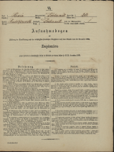 Popis prebivalstva 31. 12. 1869<br />Občina Dobrnič<br />Dobrnič 20<br />Population census 31 December 1869<br />Municipality Dobrnič
