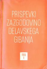 Prispevki za zgodovino delavskega gibanja, 1960, št. 1
