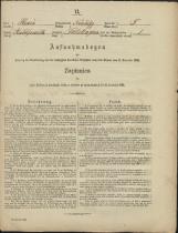 Popis prebivalstva 31. 12. 1869<br />Občina Mirna<br />Selska Gora 5<br />Population census 31 December 1869<br />Municipality Mirna