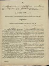 Popis prebivalstva 31. 12. 1869<br />Občina Mirna<br />Gomila 6<br />Population census 31 December 1869<br />Municipality Mirna