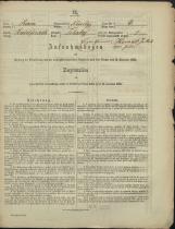 Popis prebivalstva 31. 12. 1869<br />Občina Mirna<br />Tihaboj 4<br />Population census 31 December 1869<br />Municipality Mirna