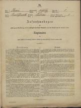 Popis prebivalstva 31. 12. 1869<br />Občina Mirna<br />Trbinc 1<br />Population census 31 December 1869<br />Municipality Mirna