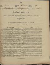 Popis prebivalstva 31. 12. 1869<br />Občina Prečna<br />Podgora 19<br />Population census 31 December 1869<br />Municipality Prečna