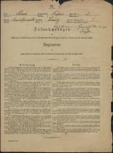Popis prebivalstva 31. 12. 1869<br />Občina Trebnje<br />Benečija 2<br />Population census 31 December 1869<br />Municipality Trebnje