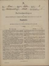 Popis prebivalstva 31. 12. 1869<br />Občina Trebnje<br />Blato 8<br />Population census 31 December 1869<br />Municipality Trebnje