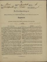 Popis prebivalstva 31. 12. 1869<br />Občina Velika Loka<br />Čatež 11<br />Population census 31 December 1869<br />Municipality Velika Loka