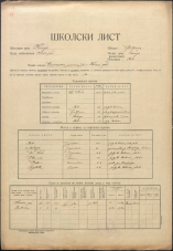 Šolski list (1928)<br />Šolski okraj Kočevje<br />Občina Rob<br />Krvava peč<br />Enorazredna osnovna šola v Krvavi peči<br />School census (1928)<br />School district Kočevje<br />Municipality Rob