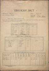Šolski list (1929)<br />Šolski okraj Kranj<br />Občina Besnica<br />Besnica<br />Državna osnovna šola<br />School census (1929)<br />School district Kranj<br />Municipality Besnica