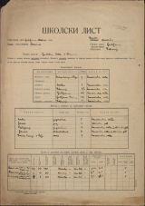 Šolski list (1940)<br />Šolski okraj Ljubljana - okolica<br />Občina Dobrunje<br />Besnica<br />Ljudska šola v Besnici<br />School census (1940)<br />School district Ljubljana - okolica<br />Municipality Dobrunje