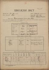 Šolski list (1928)<br />Šolski okraj Ljubljana - okolica<br />Občina Horjul<br />Žažar<br />Državna enorazredna osnovna šola v Žažarju<br />School census (1928)<br />School district Ljubljana - okolica<br />Municipality Horjul