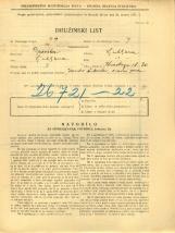 Popis prebivalstva 31. 3. 1931<br />Ljubljana<br />Koseskega ulica 20<br />Population census 31 March 1931
