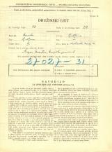 Popis prebivalstva 31. 3. 1931<br />Ljubljana<br />Krakovski nasip 14<br />Population census 31 March 1931
