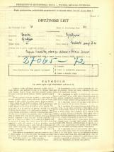 Popis prebivalstva 31. 3. 1931<br />Ljubljana<br />Krakovski nasip 20<br />Population census 31 March 1931