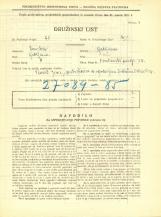 Popis prebivalstva 31. 3. 1931<br />Ljubljana<br />Krakovski nasip 24<br />Population census 31 March 1931